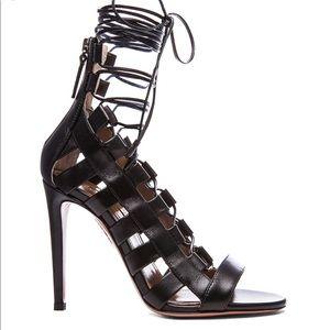 aquazurra suede AMAZON lace-up sandals